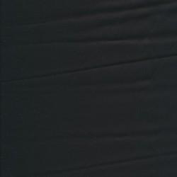 Bomuldssatin med stræk i sort