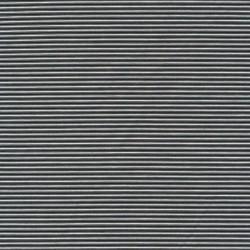 Kraftig bomuld/polyester stribet i sort og hvid