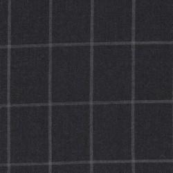 Uld/polyester m/stræk i mørk grå med lysegrå tern