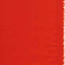 Bomuldssatin stretch i orange-rød