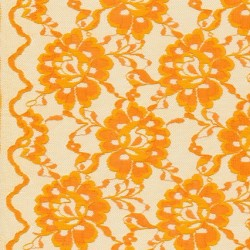 Blonde viscose/polyester m/buet kant, orange