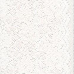Strækblonde med buet kant i hvid