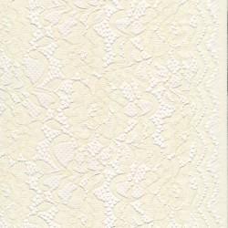 Strækblonde med buet kant i offwhite