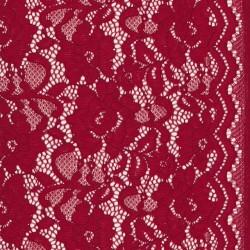 Strækblonde med buet kant i varm rød