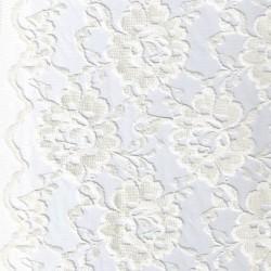 Rest Blonde viscose/polyester m/buet kant, off-white, 38-42 cm.