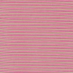 Stribet bomuld beige/pink/hvid
