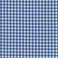 Bomuld ternet hvid/blå 5x5 mm.