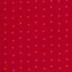 Bomuld m/stjerner, rød/pink