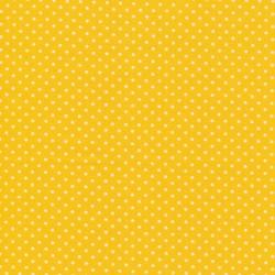 Bomuld m/prikker, gul/hvid