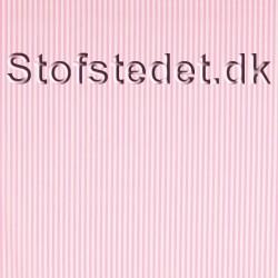 Bomuld stribet hvid-lyserød