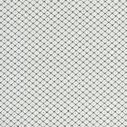 Hvid bomuld polyester med lille sort rude-mønster