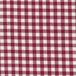 Køkkentern hvid - mørk rød 9x9 mm.