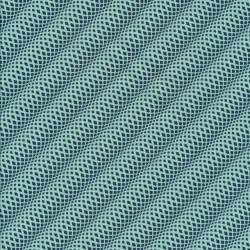 Bomuld mønstret med små ruder i mint og petrol