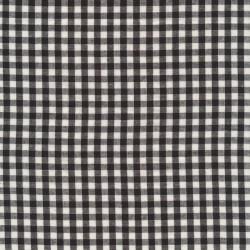 Bomuld ternet hvid/sort 5x5 mm.