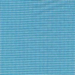 Små-ternet bomuld turkis/hvid