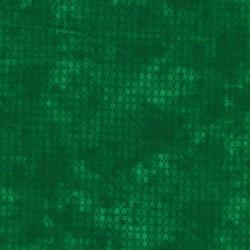 Bomuld batik med prikker i grøn og mørk grøn