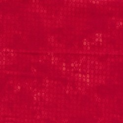 Bomuld batik med prikker i rød og koral