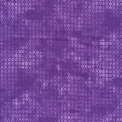 Bomuld batik med prikker i lilla og lys lilla