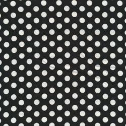 Bomuld med prikker i sort og hvid