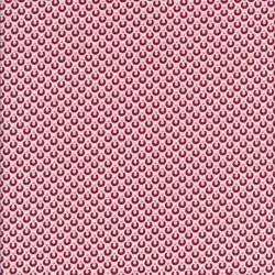 Bomuldspoplin med halv cirkel i hvid og rosa