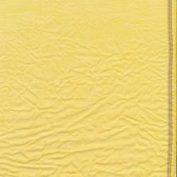 Let krøllet bomulds-voil meleret i lys gul