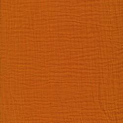 Bomuld i Double Gauze i lys brændt orange