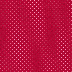 Bomuld med små prikker i rød/hvid