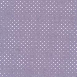 Bomuld med små prikker i lyselilla/hvid