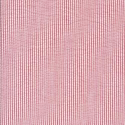 Stribet bæk og bølge i bomuld polyester, rød og hvid