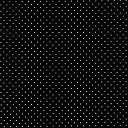 Bomuld med små prikker i sort/hvid