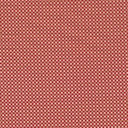 Fast stof i bomuld småternet i rød, sand, offwhite og guld