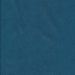 100% bomuld økotex i støvet petrol-blå