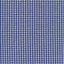 Crepe bomuld med lille tern i hvid og blå