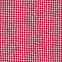 Crepe bomuld med lille tern i hvid og rød
