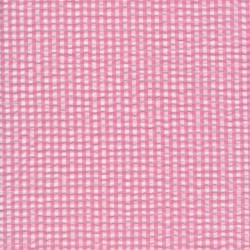 Crepe bomuld med lille tern i hvid og lyserød