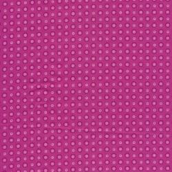 Bomulds poplin i pink med cirkel