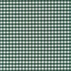 Bomuld/polyester ternet hvid og mørkegrøn 5x5 mm.