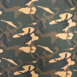 Bomulds poplin i camouflage - army print