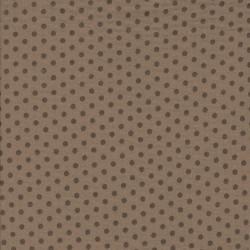 Bomuld i Double Gauze i lys brun med prikker