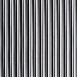 Bomuld med smalle striber i hvid og sort