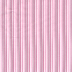 Bomuld med smalle striber i hvid og gl.rosa