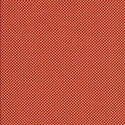 Bomuld i brændt orange med hvide prikker