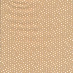 Bomuld i beige med små hvide hjerter