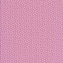 Bomuld i gl.rosa med små hvide hjerter