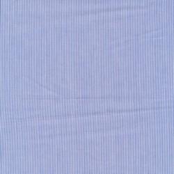 Smal-stribet bomuld i lyseblå og hvid