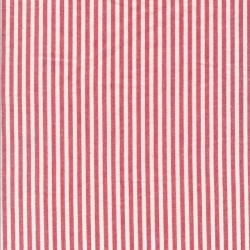 Bomuld med striber i hvid og rød