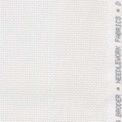 Afklip Aida broderistof, hvid 5,5 trådet 50x55 cm.