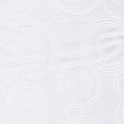 Dug-stof jacquard m/cirkler, hvid