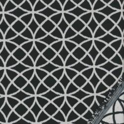 Bomuld/polyester m/cirkler sort/knækket hvid