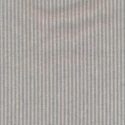 Kraftig bomuld/polyester i stribet sildeben i off-white og lysegrå
